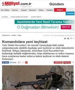 Milliyet - New equipment for Commandos