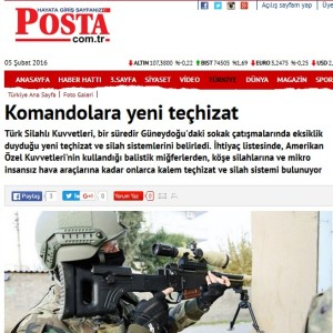Posta - New equipment for Commandos